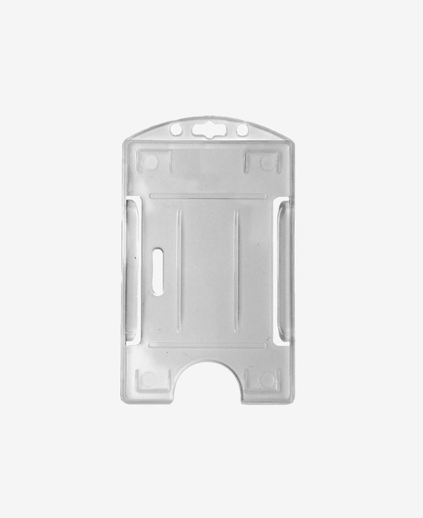 Portabadge IDP64 per 1 carta verticale - Translucido