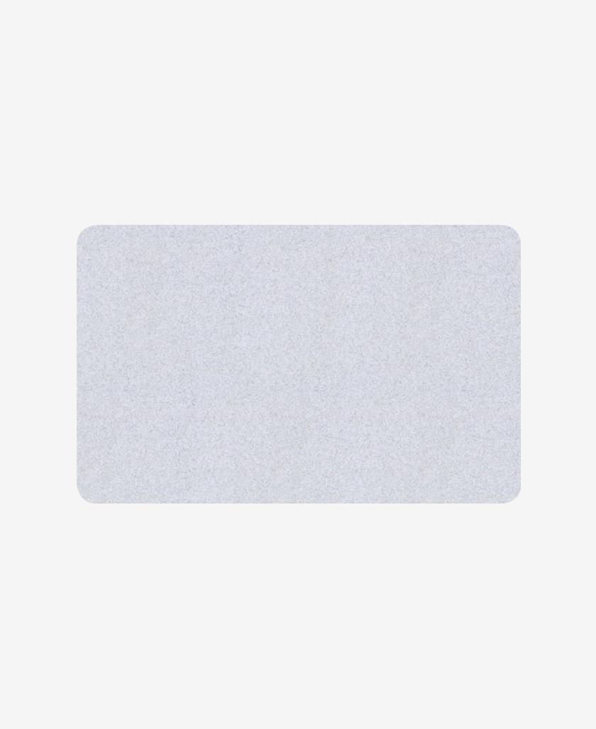Carte bifacciali con fondo colorato argento 0,76 mm
